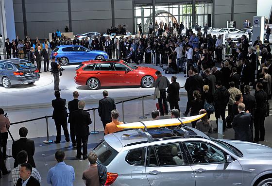 Auch für die Auto Mobil International 2014 werden wieder zahlreiche Welt-, Europa- und Deutschlandpremieren erwartet. (Foto: Messe Leipzig)