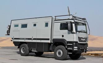Geländegängige Expeditionsmobile, wie der Atacama 5900 des Herstellers Action Mobil, werden beim Caravan Salon gezeigt. (Foto: Messe Düsseldorf)