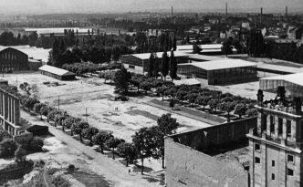 Das Frankfurter Messegelände im Jahr 1948. (Foto: Messe Frankfurt)